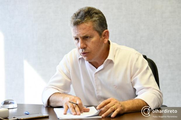 Mauro Mendes cobra de Jair Bolsonaro desburocratização e combate à violência