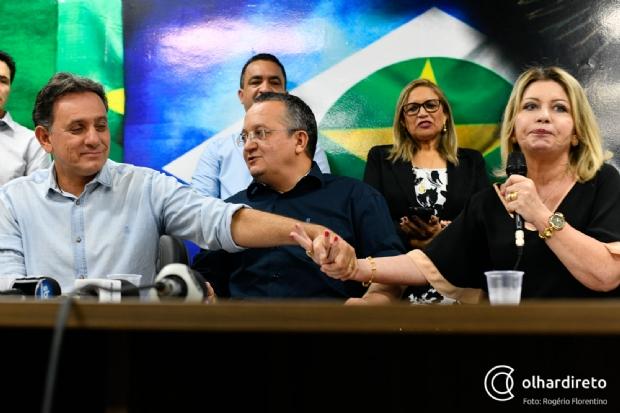 """Em novo vídeo, Selma diz que é """"uma honra"""" coligar com Pedro Taques e Nilson Leitão; veja"""