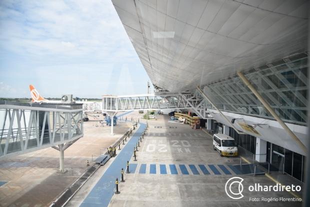 Problema em trem de pouso de aeronave que vinha para Cuiabá faz piloto sobrevoar aeroporto por uma hora