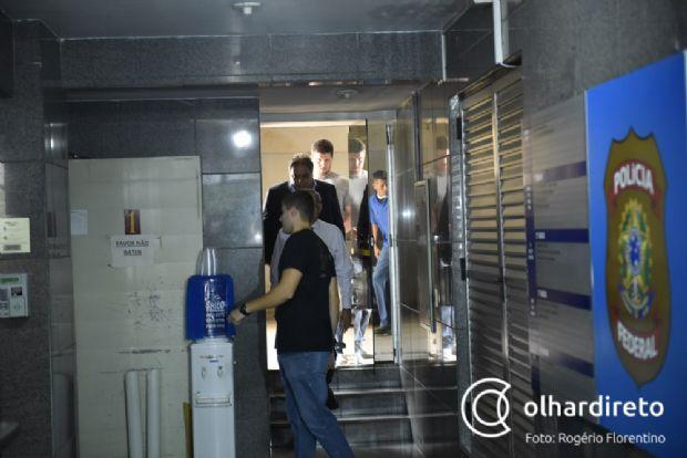 Eduardo Botelho soube da prisão de seu vice Gilmar Fabris durante evento, em Várzea Grande, ao lado de Pedro Taques e Lucimar Campos