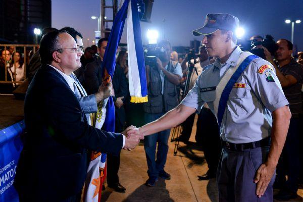 Taques afirma que nenhuma cidade ficará com menos de 5 policiais e anuncia concurso para 130 delegados