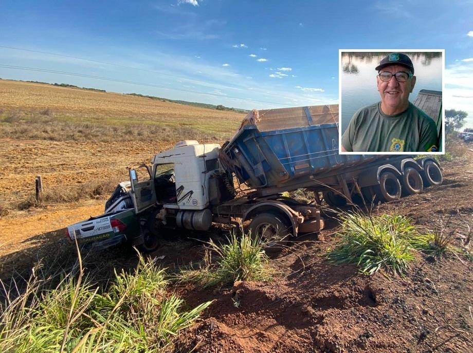 Servidor do Ibama morre em colisão de caminhonete com duas carretas;  fotos