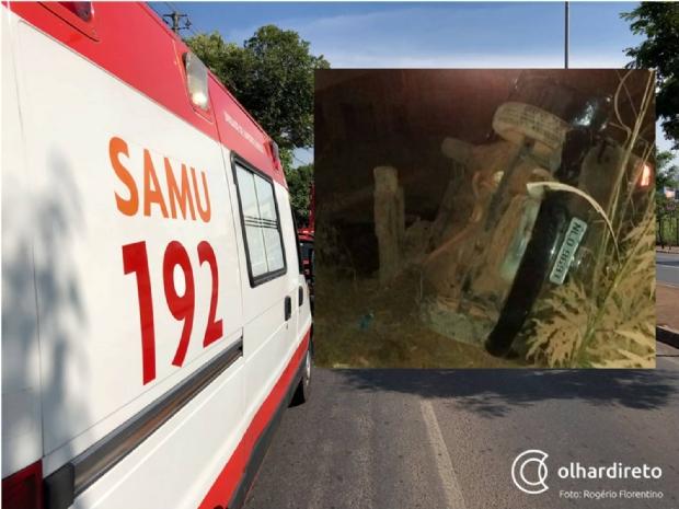 Amigos sofrem acidente de carro a caminho de cachoeira