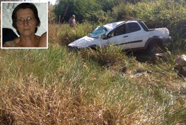 Aposentada morre, filha e duas crianças ficam feridas em capotamento na MT-208