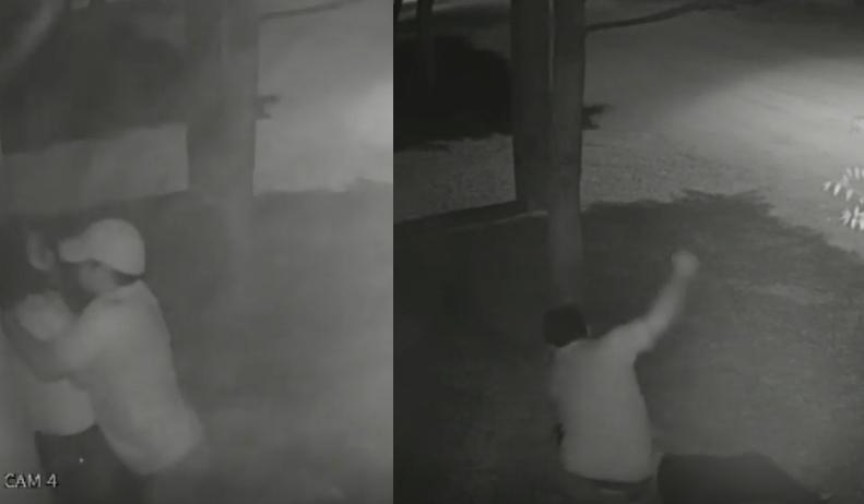 Preso homem flagrado espancando mulher brutalmente no meio da rua;  vídeo