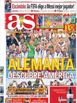 Capa do diário AS