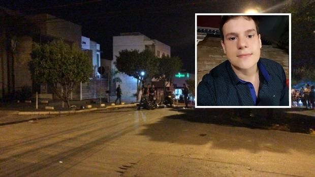 Vídeo mostra momento em que motociclista é morto por bala perdida durante assalto em Cuiabá