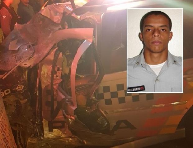 Após 18 dias, policial ferido em colisão de viatura em muro segue em estado grave