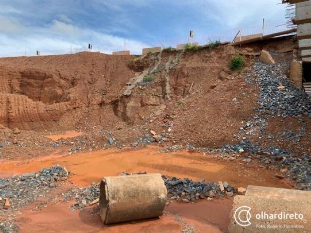 Após Defesa Civil identificar risco em estrutura, Sinfra faz reparos emergenciais em ponte