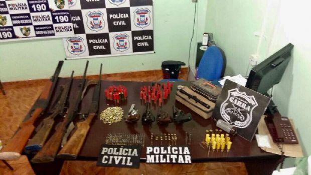 Operação 'Arsenal 53' apreende 16 armas de fogo e 550 munições