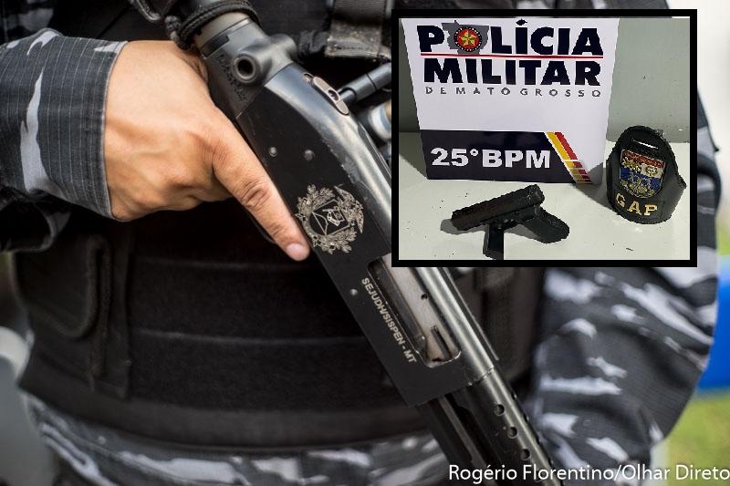 Criminoso com passagens por homicídio é baleado após apontar Glock de brinquedo para policiais em VG