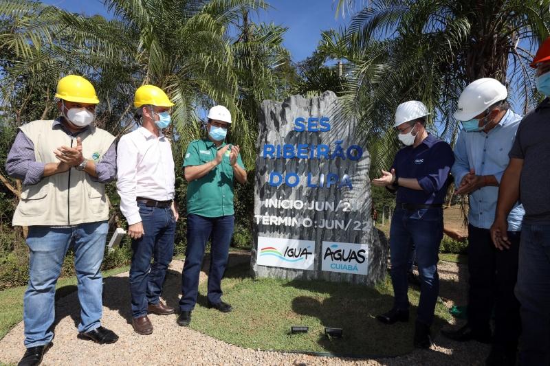 Emanuel lança obras de nova estação de tratamento de água e esgoto que vai beneficiar 77 bairros de Cuiabá