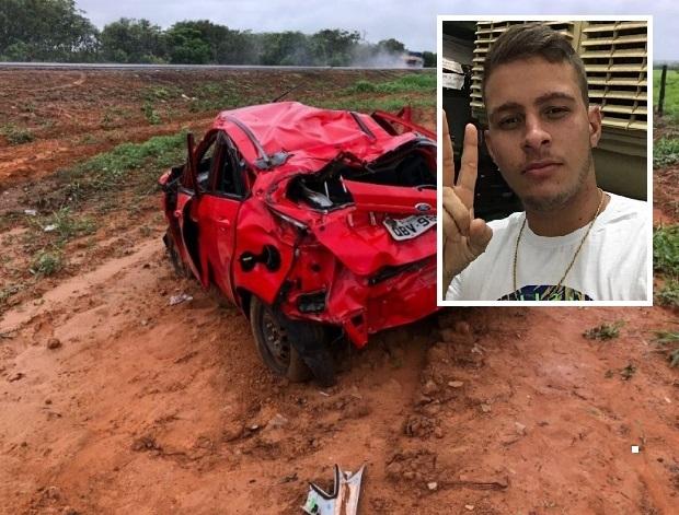 Universitário de 19 anos morre e três ficam feridos após veículo capotar