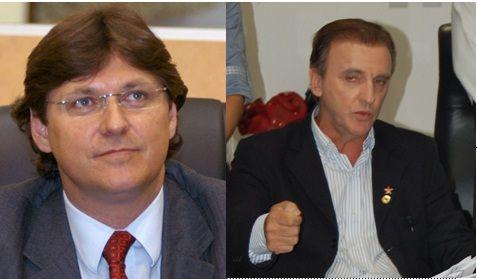 Alexandre César e Ademir Brunetto, membros históricos do PT