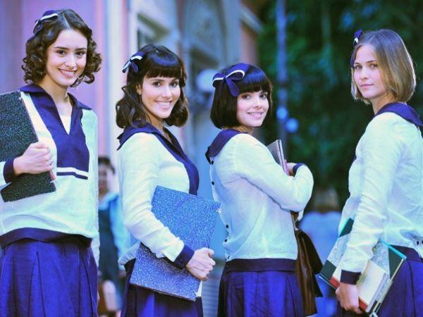 Amanda Richter, Fernanda Pontes, Vanessa Giácomo e Luiza Valderato são as amigas de colegial