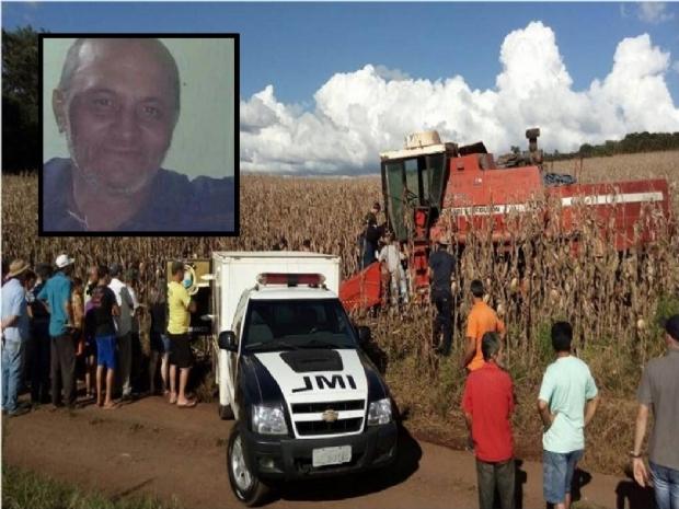 Idoso morre sugado por colheitadeira em assentamento
