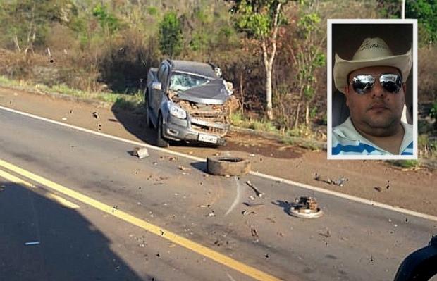 Empresário de 44 anos morre após colisão de picape S10 em carreta
