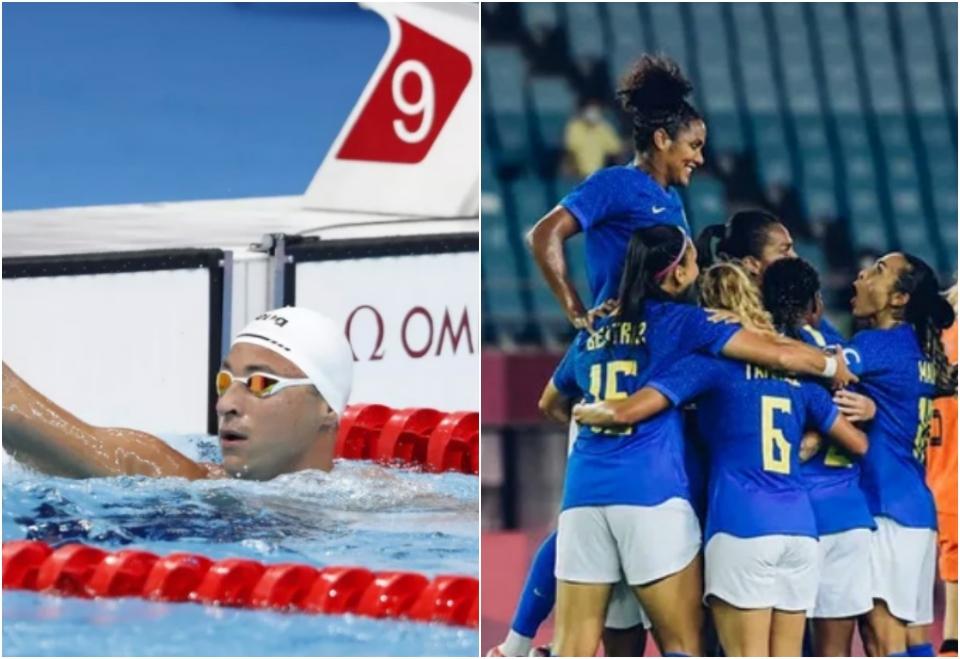 Nadador mato-grossense bate recorde pessoal e garante vaga nas semifinais; zagueira cuiabana empata com a Holanda