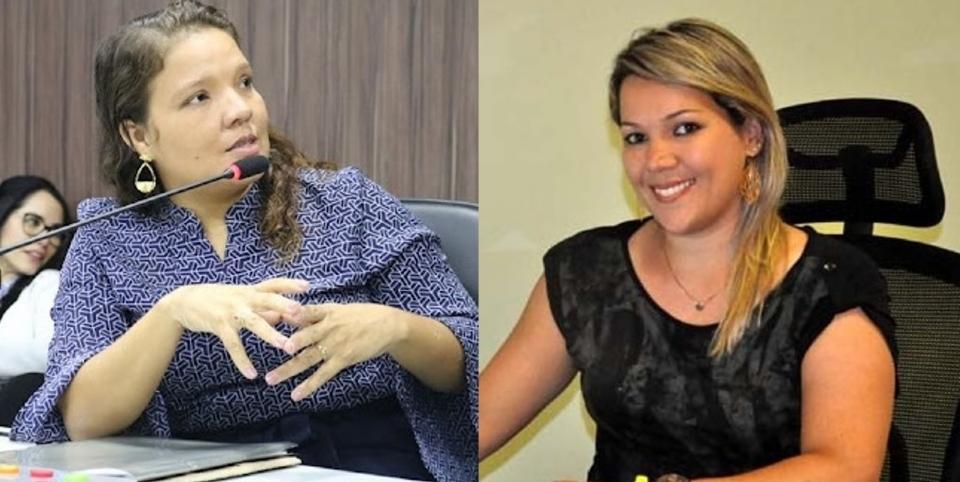 Vereadora Gisa Barros (esquerda) e ex-primeira-dama Cláudia Barros (direita) são cotadas para assumir Assistência Social