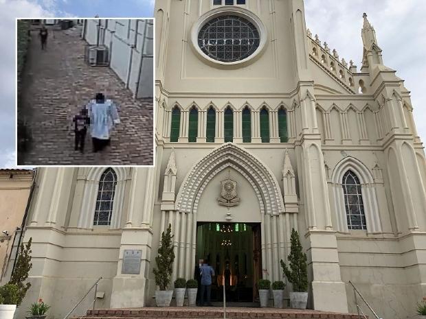 Suspeito de entrar com criança em banheiro de igreja é agredido por populares e detido