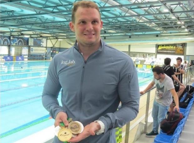 Nadador mato-grossense ganha cinco medalhas em competição em Portugal