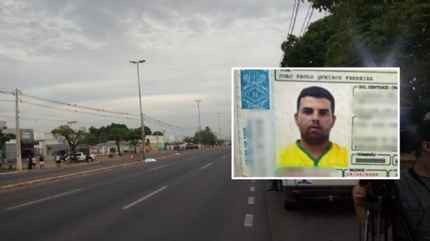 Homem de 34 anos morre após acidente entre duas motos em Cuiabá; veículo pegou fogo