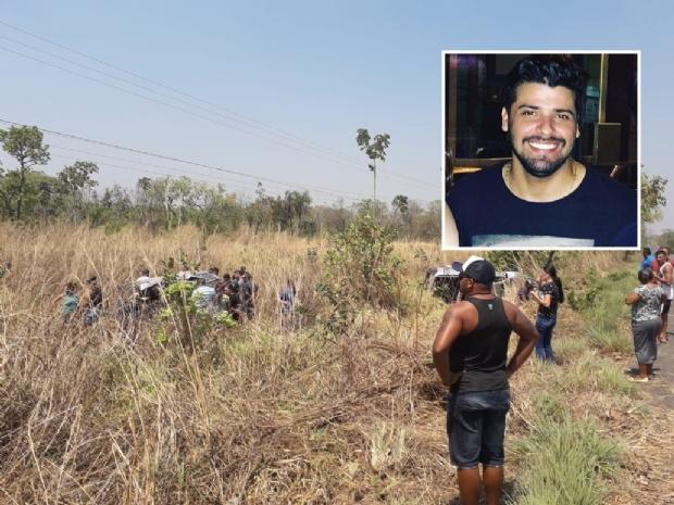 Dentista morre após ser lançado de carro em capotamento próximo a Cuiabá;  fotos