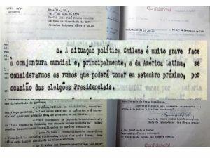 Documentos do Arquivo Nacional mostram que militares brasileiros já previam golpe antes da posse de Allende no Chile