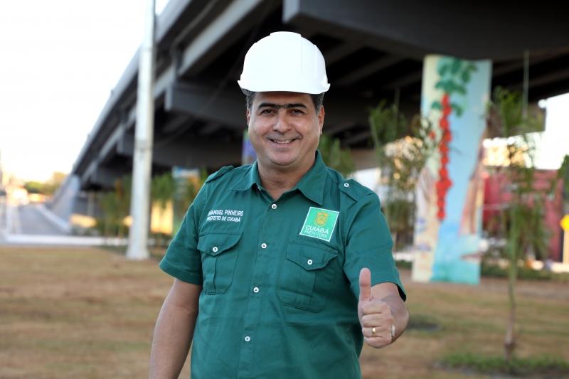 Emanuel diz que novo viaduto ajuda a criar 'Cuiabá futurística'' com beleza e melhoria no trânsito