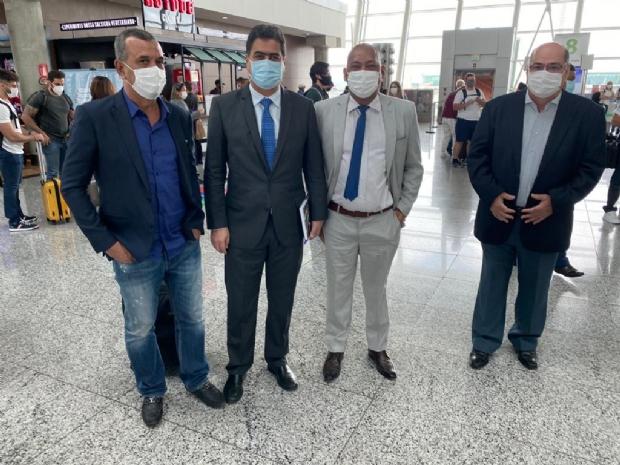 Emanuel cumpre agenda em Brasília no Ministério da Saúde e Desenvolvimento Regional