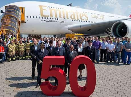 Até 2017, a Emirates espera operar 90 unidades do avião gigante da Airbus