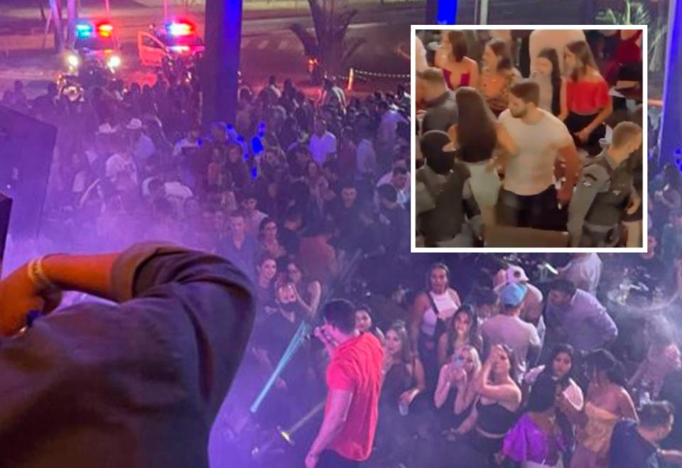 Polícia fecha bar e 'encerra' show nacional por aglomeração e poluição sonora; veja vídeo