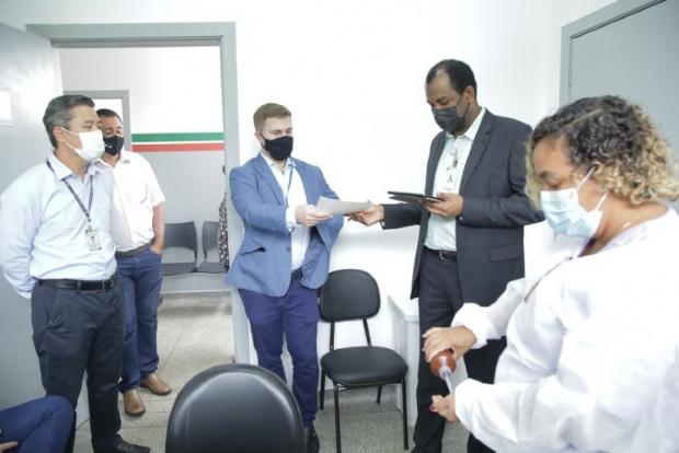 TCE-MT fiscaliza vacinação contra a Covid-19 em Várzea Grande