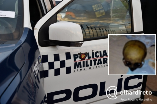 Após ligação anônima, Polícia Militar encontra saco com ossada humana