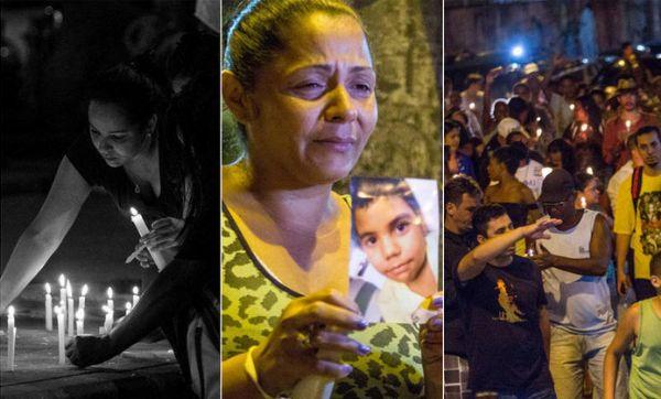 Moradores do Complexo do Alemão fazem protesto após morte de menino de 10 anos