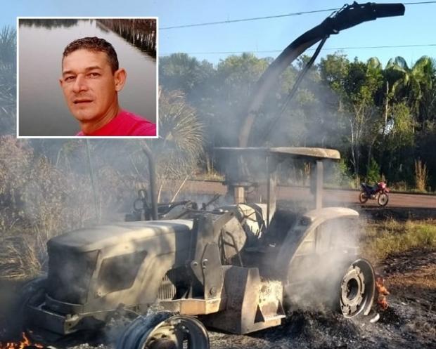 Homem morre eletrocutado e tem corpo carbonizado após trator tocar em fio de alta tensão