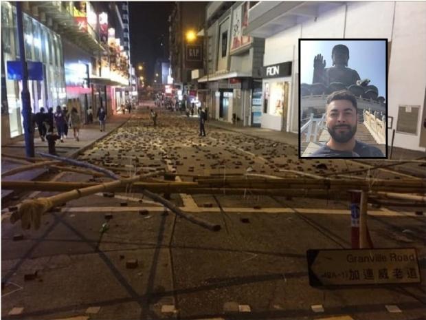 Viajando pela Ásia, arquiteto de MT relata medo nos protestos de Hong Kong;   Veja fotos e vídeos!