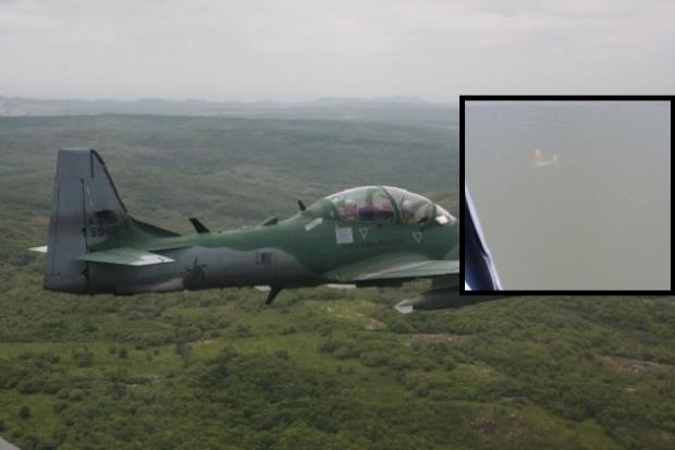 Aeronave clandestina que vinha da Bolívia é abatida pela FAB na fronteira entre MT e MS
