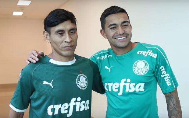 Indígena de Mato Grosso conhece CT e elenco do Palmeiras a convite do clube