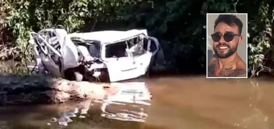Jovem encontrado morto em rio perdeu controle de carro por causa de buraco na pista e teve corpo arremessado