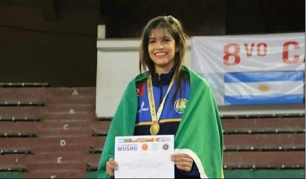 Brenda é um dos 8 atletas selecionados em todo o país para representar o Brasil na China.
