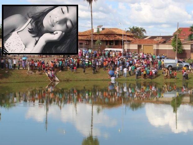 Local onde o corpo da jovem Maria foi encontrado no dia 11 de abril