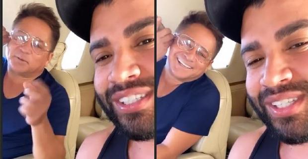Jatinho com Gusttavo Lima e Leonardo pousa no Aeroporto de Cuiabá após mau tempo