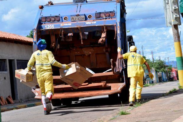 Após suspensão de serviços de coleta, Cuiabá notifica empresa e ameaça quebra de contrato