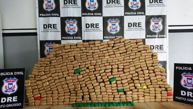 Polícia Civil descobre 'consórcio de traficantes' e apreende 500 quilos de maconha em Cuiabá