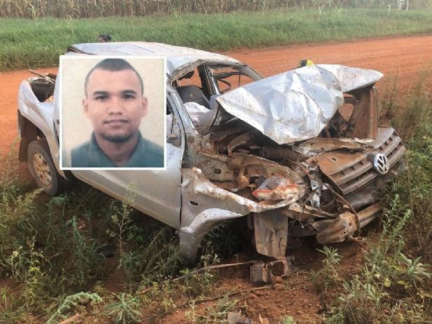 Motorista morre ao ser lançado de caminhonete em capotamento na BR-364;  fotos
