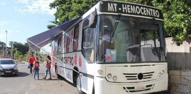 'Hemobus' fará coleta de sangue no estacionamento do Shopping Pantanal