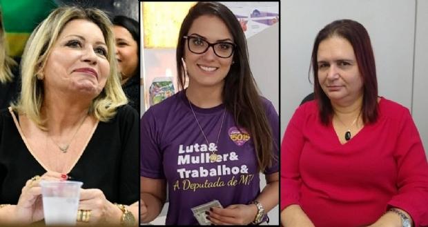 Selma Arruda, Janaína Riva e Professora Rosa Neide