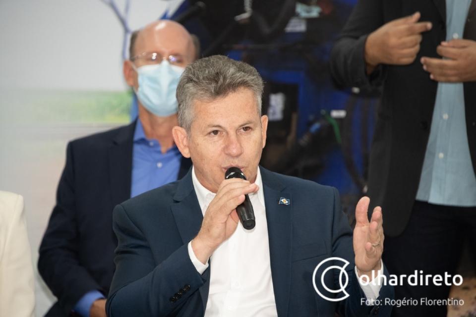 'Mais do que história, estamos fazendo justiça a Mato Grosso', afirma Mauro durante assinatura de contrato com a Rumo