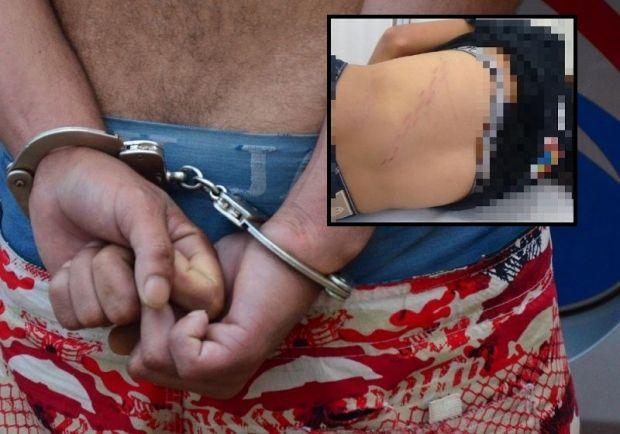 Com tornozeleira, homem é preso após espancar esposa com corrente e ameaçá-la de morte